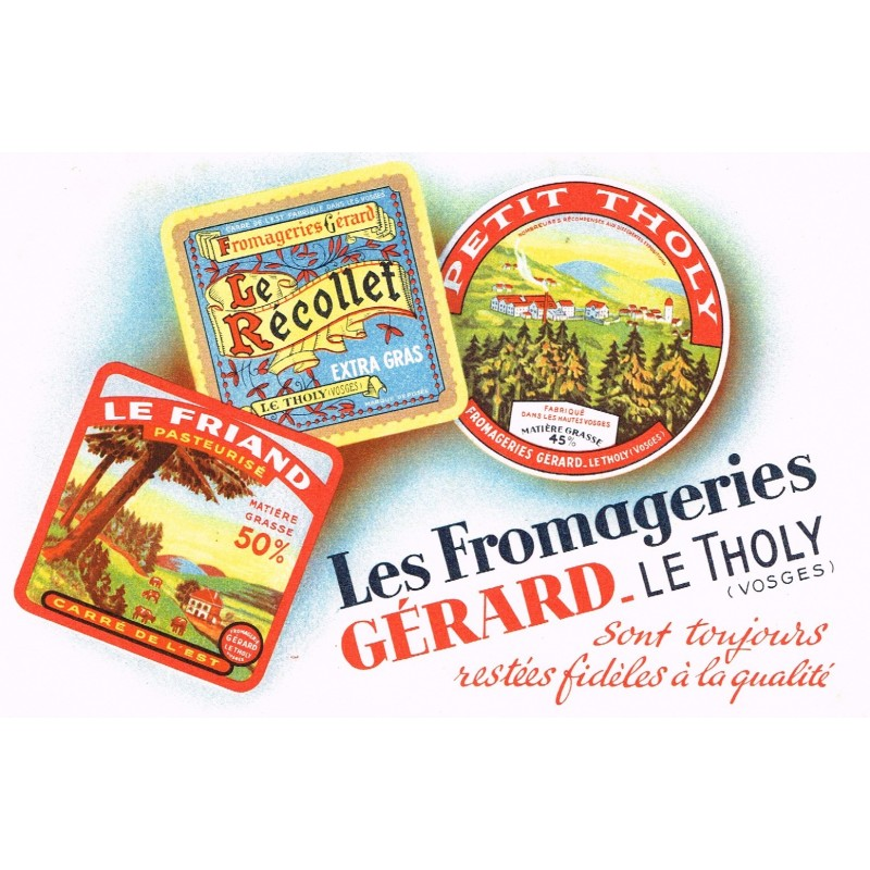 BUVARD LES FROMAGERIES GERARD - LE THOLY