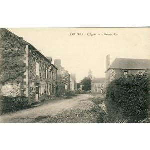 cp35-les-iffs-l-eglise-et-la-grande-rue