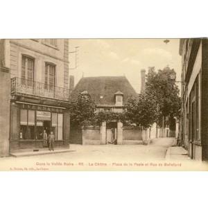 cp36-la-chatre-place-de-la-poste-et-rue-de-bellefond