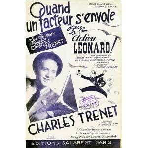 PARTITION DE CHARLES TRENET - QUAND UN FACTEUR S'ENVOLE