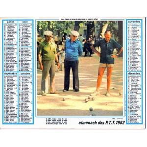 CALENDRIER 1982 PETANQUE ET AVENAY VAL D'OR? 51