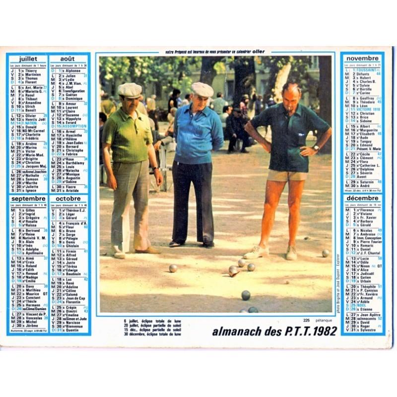 Calendrier 1982 petanque et avenay val d 39 or for Garage peugeot selestat