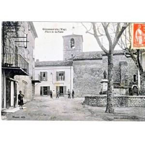 CP83 GINASSERVIS - PLACE DE LA POSTE
