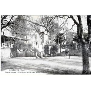 CP83 GRIMAUD - PLACE NEUVE - LE MONUMENT DES EAUX