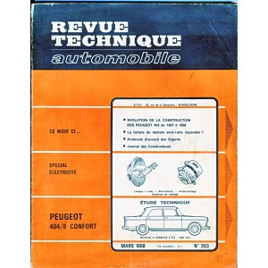 REVUE TECHNIQUE AUTOMOBILE MARS 1968