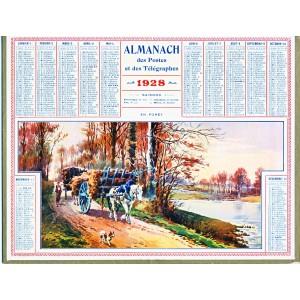 CALENDRIER ALMANACH 1928 EN FORET