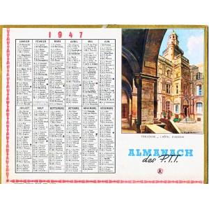 CALENDRIER ALMANACH 1947 TOULOUSE - L'HOTEL D'ASSEZAT