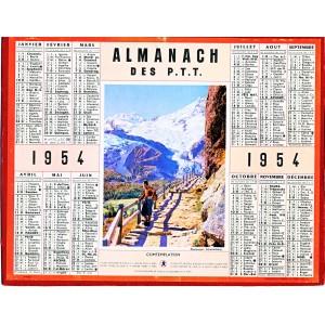 CALENDRIER ALMANACH 1954 - CONTEMPLATION