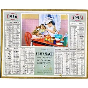CALENDRIER ALMANACH 1956 - LA DINETTE
