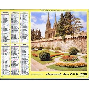 CALENDRIER ALMANACH 1982 QUIMPER ET MURS