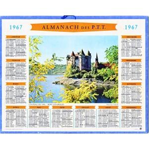 CALENDRIER ALMANACH 1967 CHATEAU DU VAL - BORT LES ORGUES