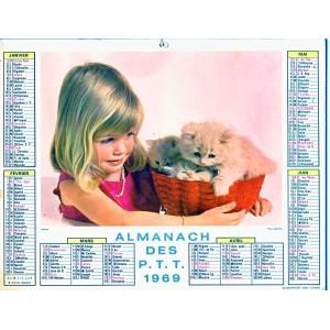 CALENDRIER ALMANACH 1969 ENFANCE ET AMIS