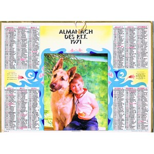 CALENDRIER ALMANACH 1971 PROTECTION