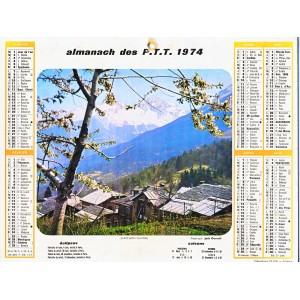 CALENDRIER ALMANACH 1974 SAINT BON ET GRAU DU ROI