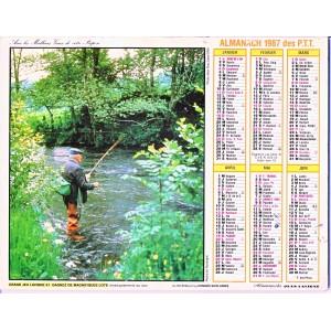 CALENDRIER ALMANACH 1987 CHASSE ET PECHE