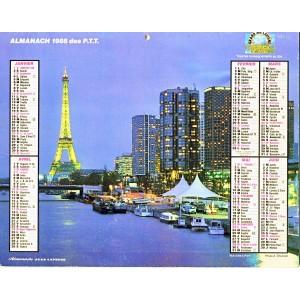 CALENDRIER ALMANACH 1988 PARIS