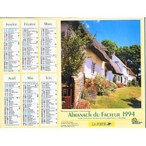 CALENDRIER ALMANACH 1994 ANGLETERRE ET HAUTE SAVOIE