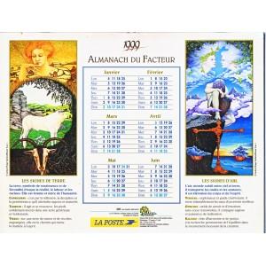 CALENDRIER ALMANACH 1999 LES SIGNES DU ZODIAQUE