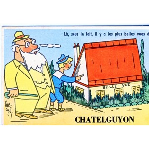 CP63 CHATELGUYON - CARTE A SYSTEME