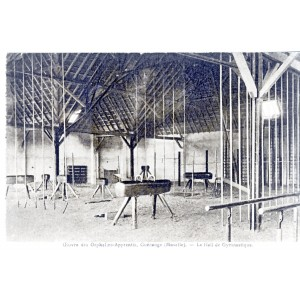 CP57 GUENANGE - OEUVRE DES ORPHELINS APPRENTIS - LE HALL DE GYMNASTIQUE