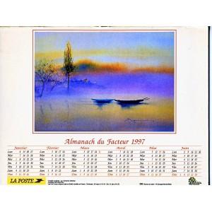 CALENDRIER ALMANACH 1997 BATEAUX DANS LA BRUME
