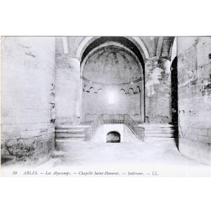 CP13 ARLES - LES ALYSCAMPS - CHAPELLE SAINT HONORAT - INTERIEUR