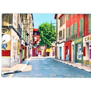 CP13 AUBAGNE - LE CENTRE COMMERCANT, ROUTE DE TOULON