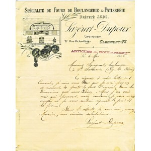 FACTURE SPECIALITE DE FOURS DE BOULANGERIE ET PATISSERIE CLERMONT FERRAND