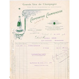 FACTURE GRANDS VINS DE CHAMPAGNE VENTEUIL PRES EPERNAY