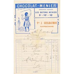 FACTURE CHOCOLAT MENIER NARBONNE