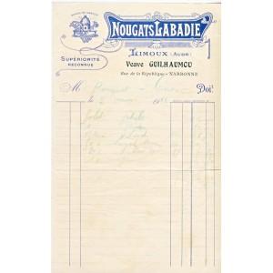 FACTURE NOUGATS LABADIE - LIMOUX - NARBONNE