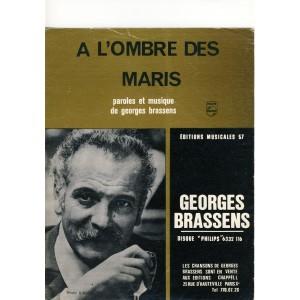 PARTITION DE GEORGES BRASSENS - A L'OMBRE DES MARIS