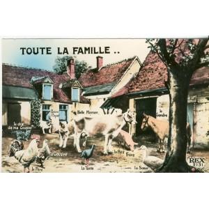 "CARTE POSTALE ""TOUTE LA FAMILLE"""