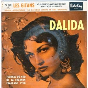 DISQUES 45 TOURS DALIDA - LES GITANS