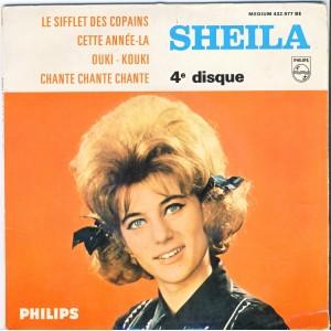 DISQUE 45 TOURS SHEILA 4 ème - LE SIFFLET DES COPAINS
