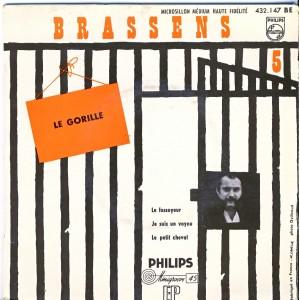 DISQUE 45 TOURS GEORGES BRASSENS 5ème série - LE GORILLE