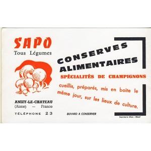 BUVARD SAPO TOUS LEGUMES, CHAMPIGNONS - ANIZY LE CHATEAU