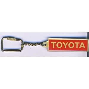 PORTE CLES TOYOTA METAL ROUGE ET OR