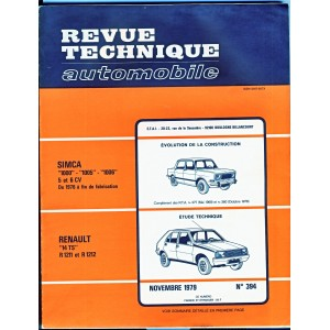 REVUE TECHNIQUE AUTOMOBILE NOVEMBRE 1979 N° 394