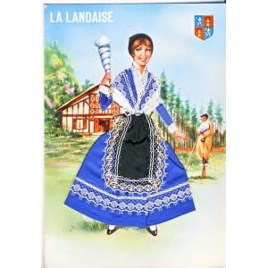 CARTE POSTALE BRODEE-HABILLEE LA LANDAISE