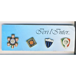 PLAQUE DE 4 PIN'S IERI L'INTER