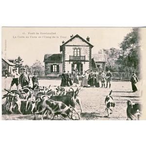 CARTE POSTALE CHASSE - LA CUREE - FORET DE RAMBOUILLET