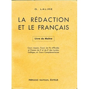 LIVRE SCOLAIRE LA REDACTION ET LE FRANCAIS - LIVRE DU MAITRE