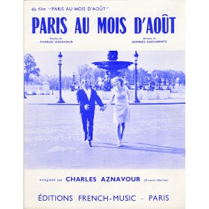 PARTITION DE CHARLES AZNAVOUR - PARIS AU MOIS D'AOUT