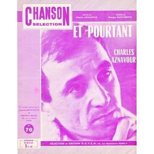 PARTITION DE CHARLES AZNAVOUR - ET POURTANT