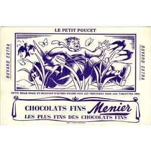 BUVARD CHOCOLATS FINS MENIER LE PETIT POUCET
