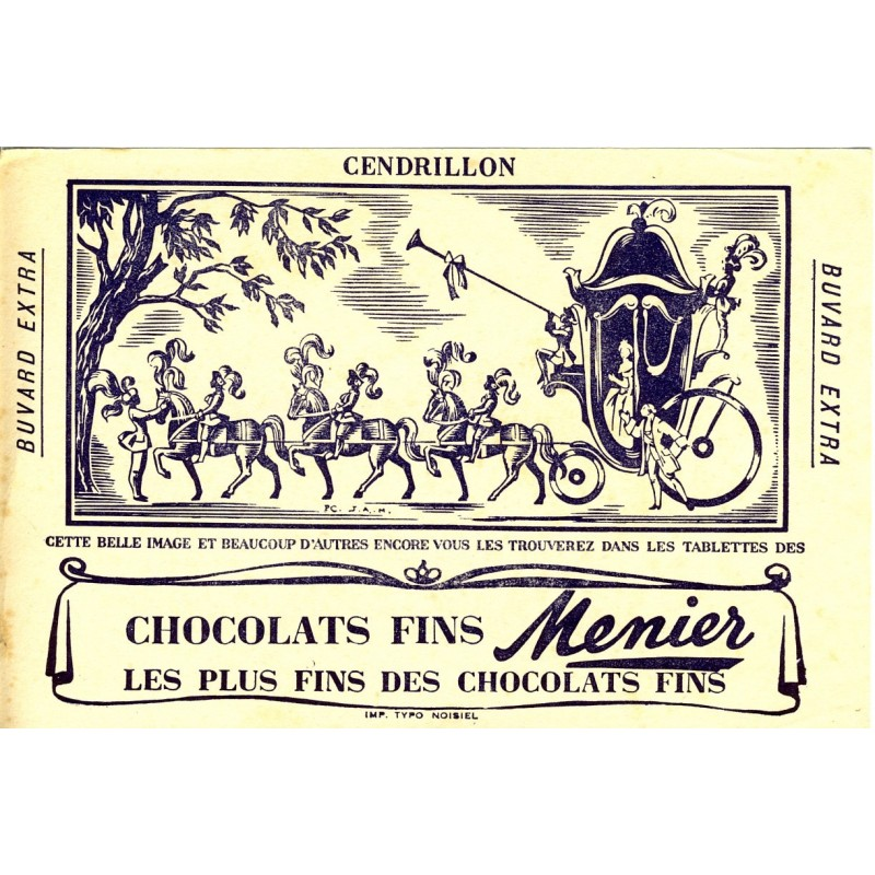BUVARD CHOCOLATS FINS MENIER CENDRILLON