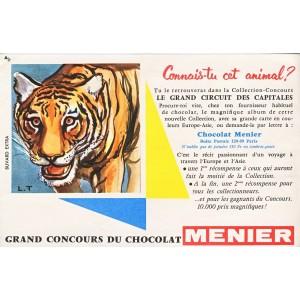 BUVARD CHOCOLAT MENIER GRAND CONCOURS - TIGRE