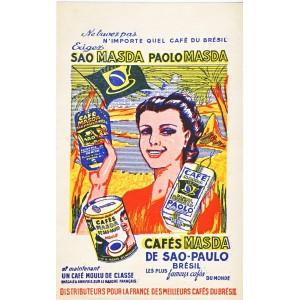 BUVARD CAFES DU BRESIL MASDA