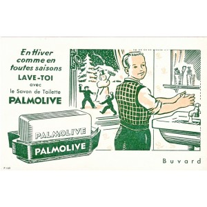 BUVARD SAVON DE TOILETTE PALMOLIVE - EN HIVER